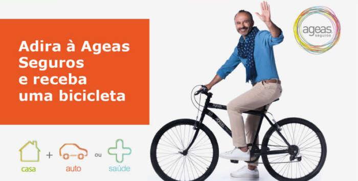Ageas Seguros patrocina vida mais saudável oferecendo bicicletas