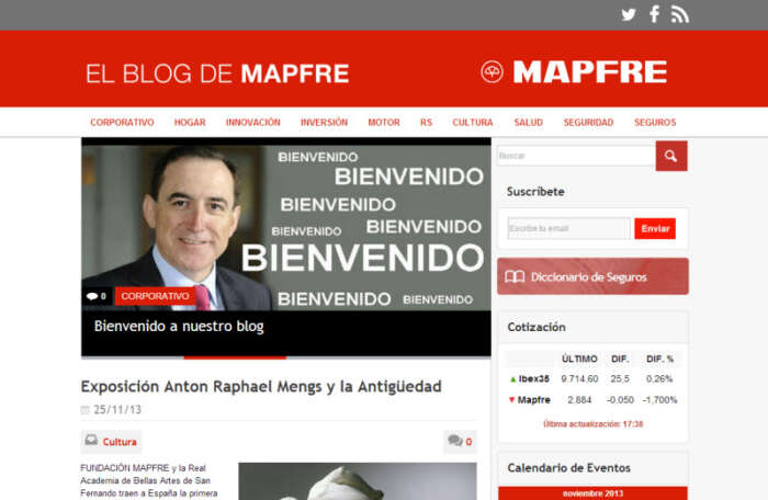 blog corporativo da MAPFRE