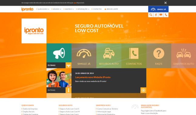 iPronto lança um novo website