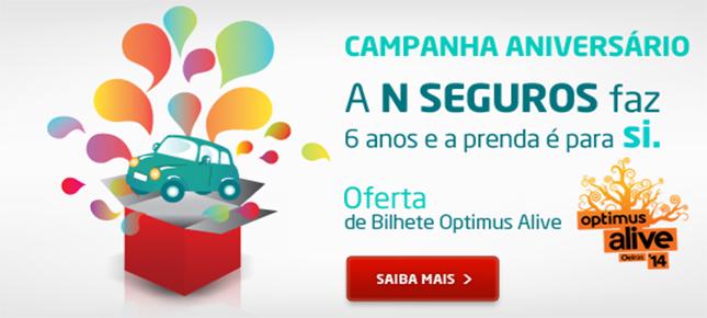 N Seguros oferece bilhetes para Optimus Alive aos fãs mais criativos