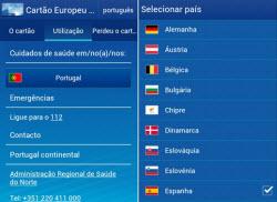 smartphone cartão europeu de saúde