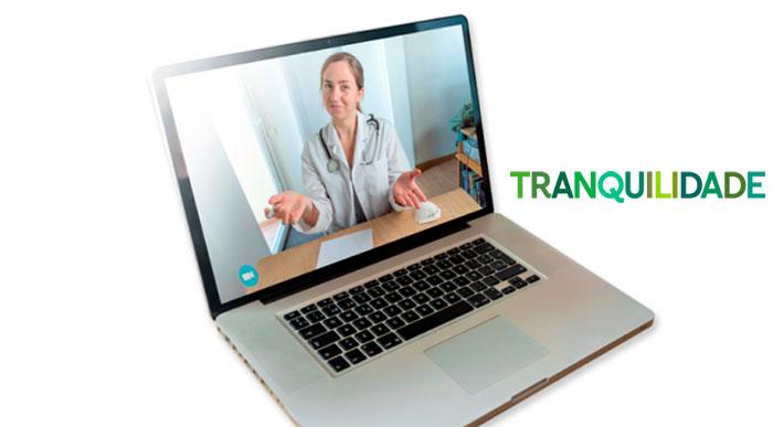 Tranquilidade oferece consultas de medicina geral e familiar por vídeo